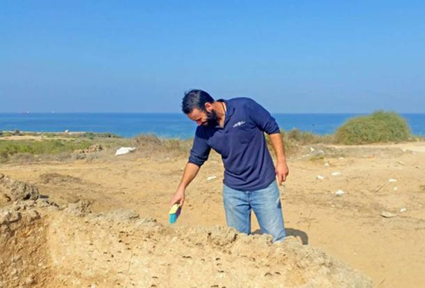 Federico Kobrin, excavation director on behalf of the Israel Antiquities Authority, near the lookout tower.