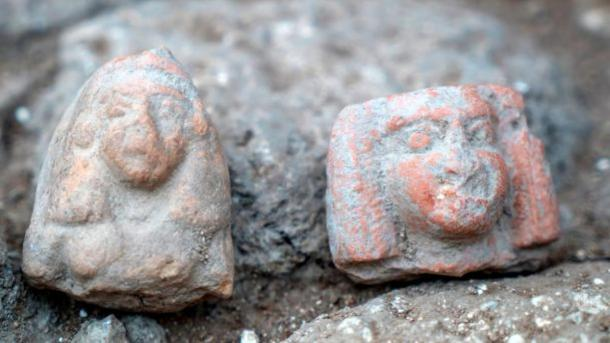 Female figurines dating to the Late Bronze Age.