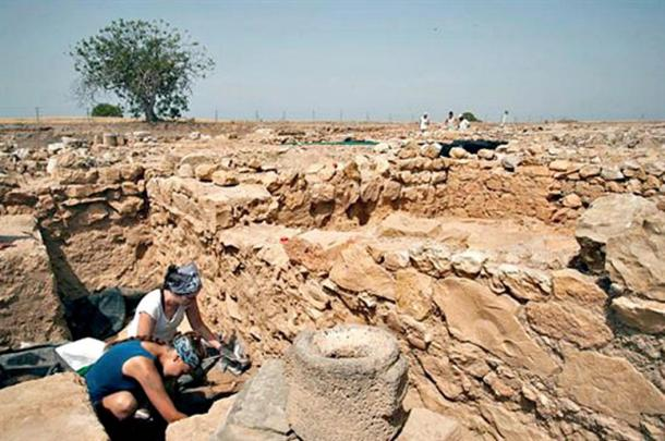 Fieldwork during the current excavations at Ampurias.