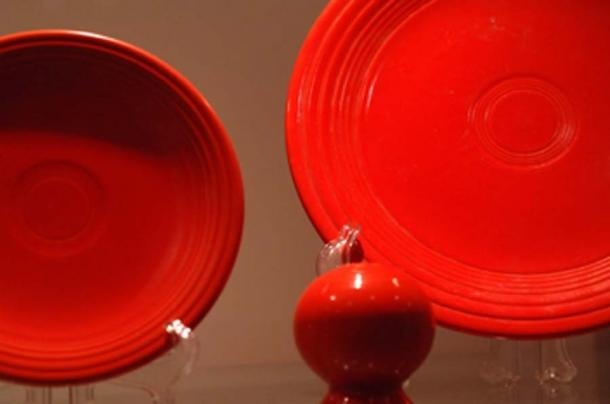 Fiestaware was first made in 1936. To achieve the bright colors uranium oxide was added into the glaze. (Marc Soller / CC BY-SA 2.0)