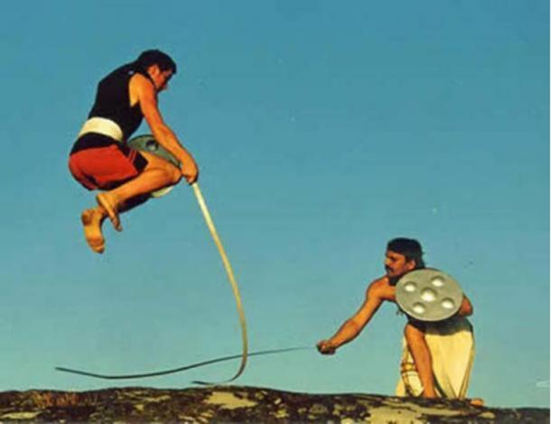Fighters using urumi.