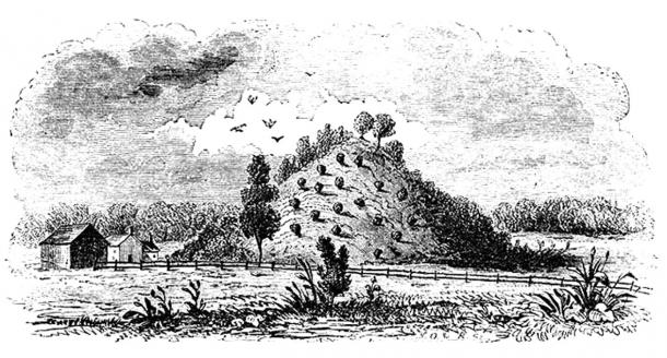 Figure 10: Old illustration of Miamisburg Mound.