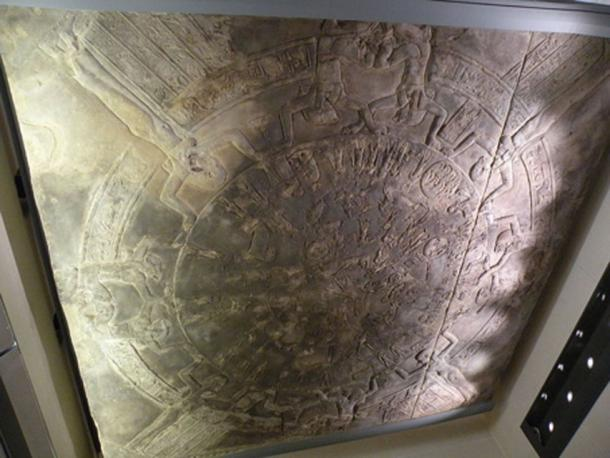 Figure 5. The Dendera Zodiac is now on the ceiling at the Louvre Museum, France