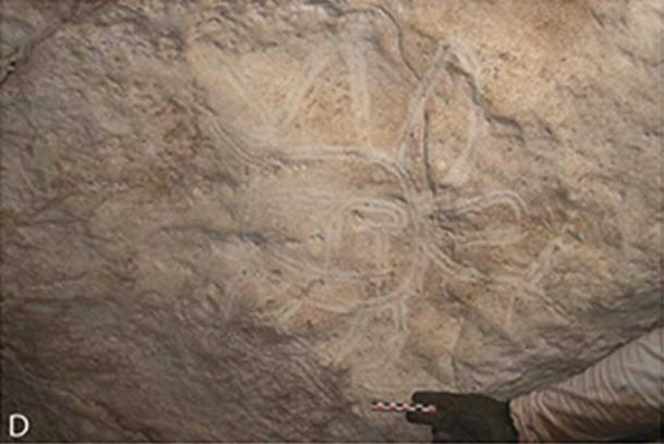 Finger fluted face with limbs and appendages. These images would have been painted in limited light or complete darkness.