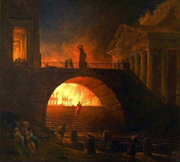The Fire of Rome (Public Domain)