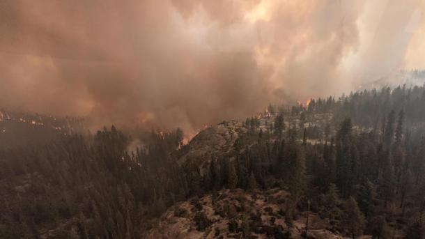 Fire officials said the so-called Colony Fire is expected to reach the Giant Forest sequoia grove within days. (Sequoia and Kings Canyon National Parks)