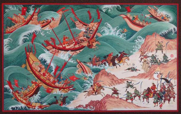 Featured image: The First Mongol Invasion of Japan.
