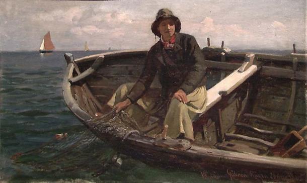 'Fish from Rügen' (1882) by Hans Gude.