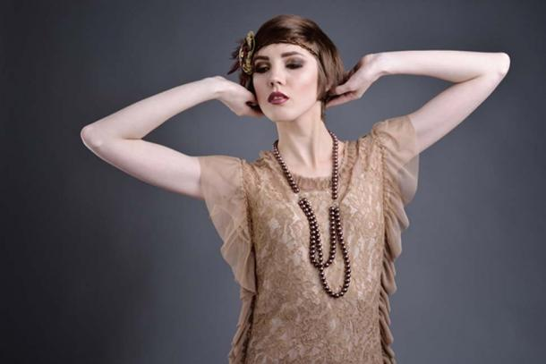 Flapper from the 1920's. (vitaliismulskyi / Adobe)