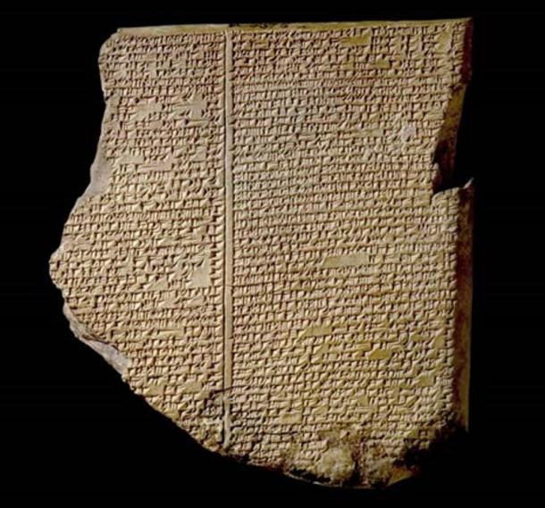 The Flood Tablet / The Gilgamesh Tablet / Library of Ashurbanipal (7th century BC).