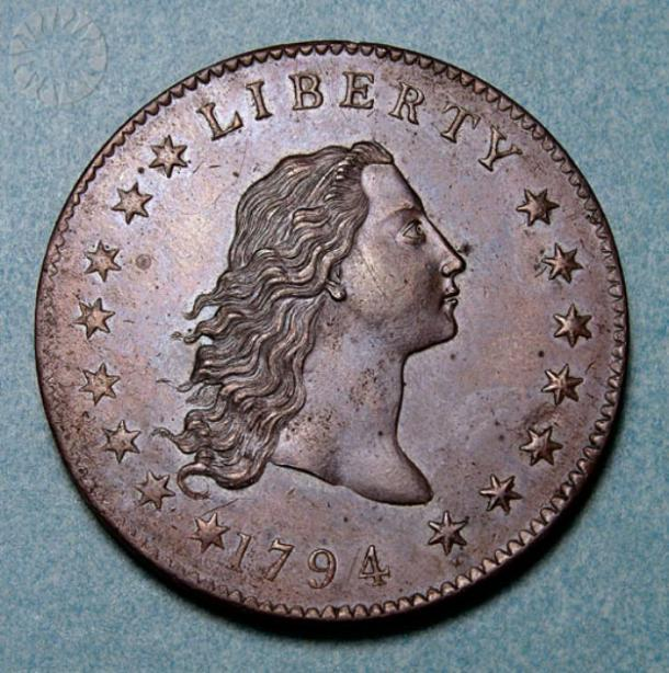 'Flowing Hair' dollar coin from 1794. (Public.Resource.Org / Public domain)