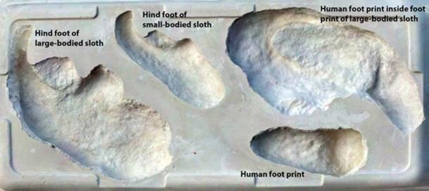 Footprint comparison. David Bustos, National Park Service
