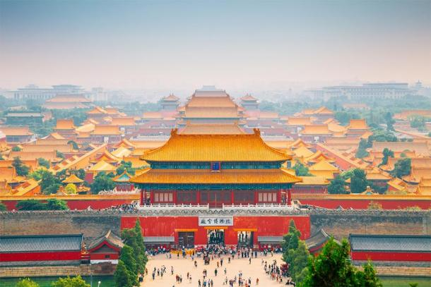 Forbidden City view from Jingshan Park in Beijing, China. (Sanga / Adobe stock)