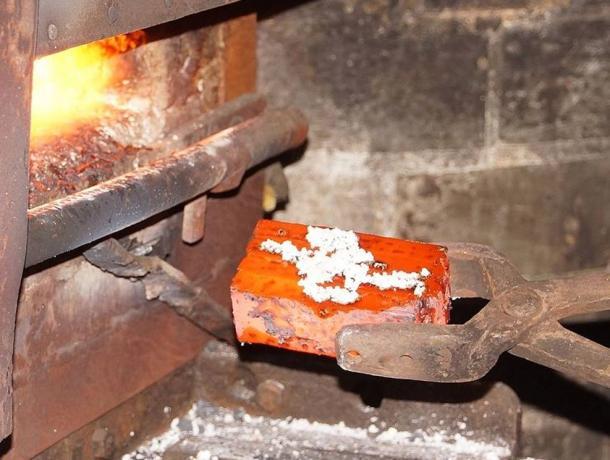 Forging of Damascus Steel in Solingen