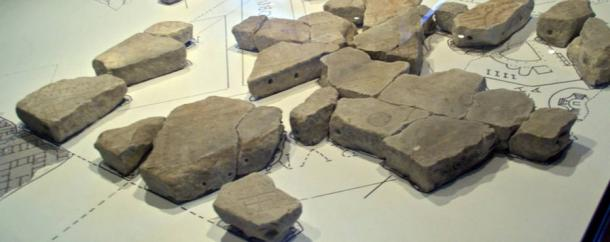 Pieces of the Forma Urbis Romae map. Researchers have spent years piecing together over a thousand fragments