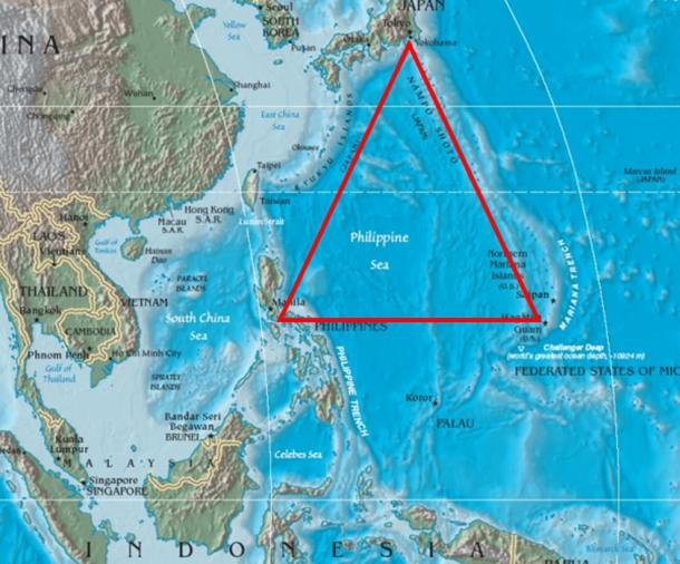The Formosa Triangle contains most of the northeast Philippine Sea.