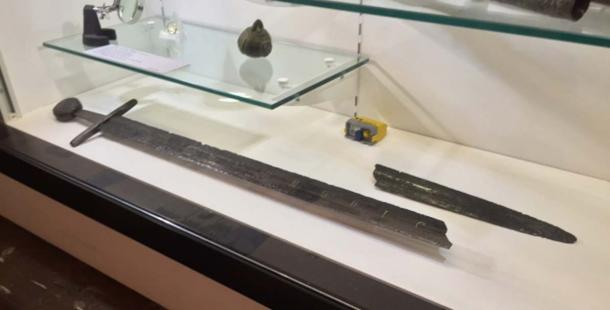 The Fornham sword discovered in 1933, currently displayed in Moyse's Hall Museum.