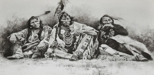 Fort Worth - Original Drawing of Comanche Indians. (Drriss & Marrionn/CC BY NC SA 2.0)