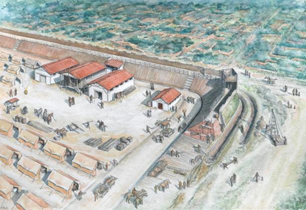 Reconstruction of Fort in London.