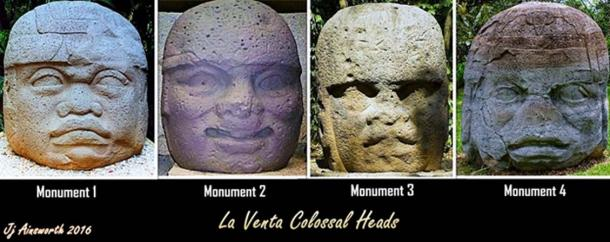 Four Colossal Heads from La Venta.