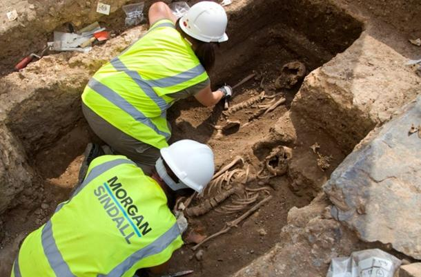 Four graves out of ten have been exhumed, all containing females buried hundreds of years ago at the same site as King Richard III.