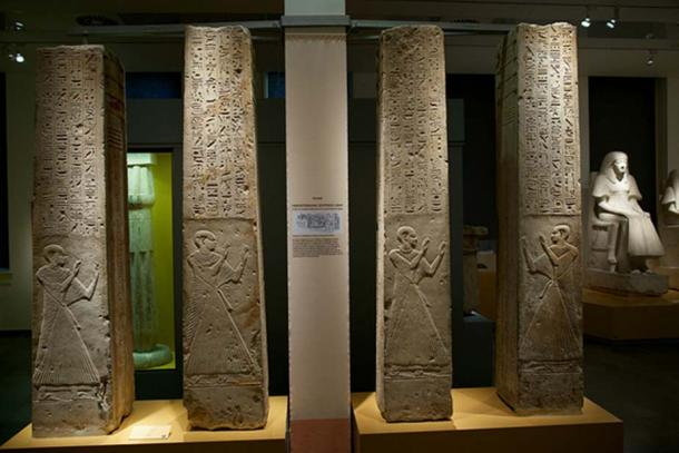 Four pillars from the Tomb of Ptahmes in the Rijksmuseum van Oudheden in Leiden, the Netherlands. (CC BY-SA 2.0)