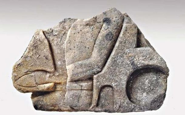 Fragment of Pharaonic statue that was found with the shipwreck. It dates to the New Kingdom period (1570-1070 BC).