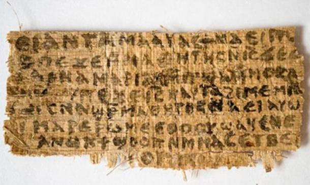 Fragment of 'fake' Coptic text known as the 'Gospel of Jesus' Wife'. (Image: Karen L. King)