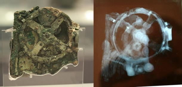 Fragment of the Antikythera Mechanism with image