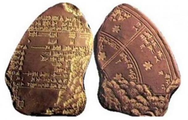 Fragments of a Babylonian star calendar. (Babylonian Empire)