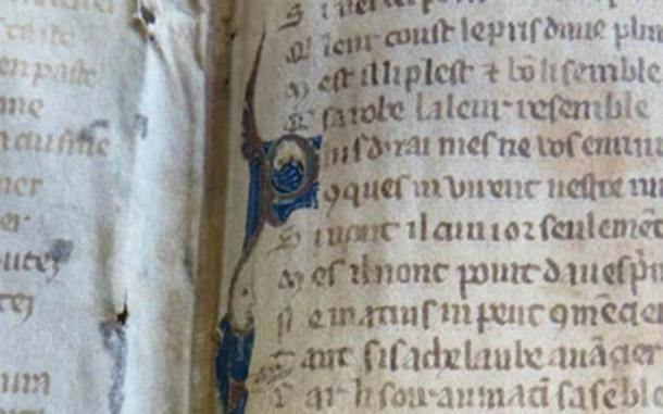 Fragments of a medieval poem have been rediscovered after more than 700 years. The pages, completed around 1280, were found being used as book binding for another document. (Diocese of Worcester)
