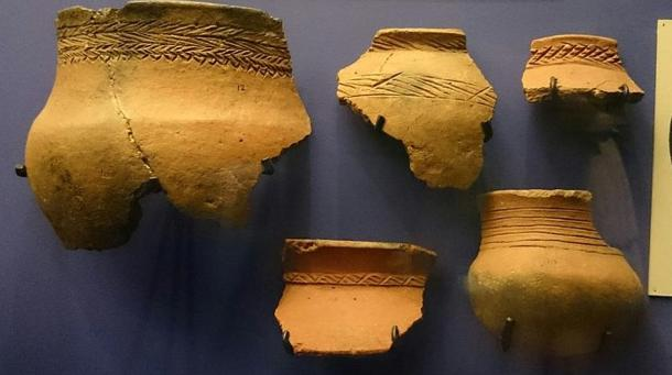 Fragments of domestic pottery with similar decoration to the Lydenburg Heads, Lydenburg, South Africa