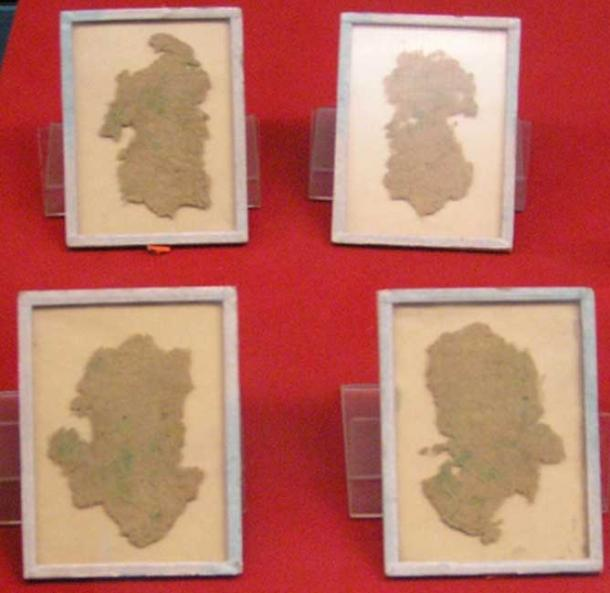 Fragments of hemp wrapping paper dated to the reign of Emperor Wu of Han