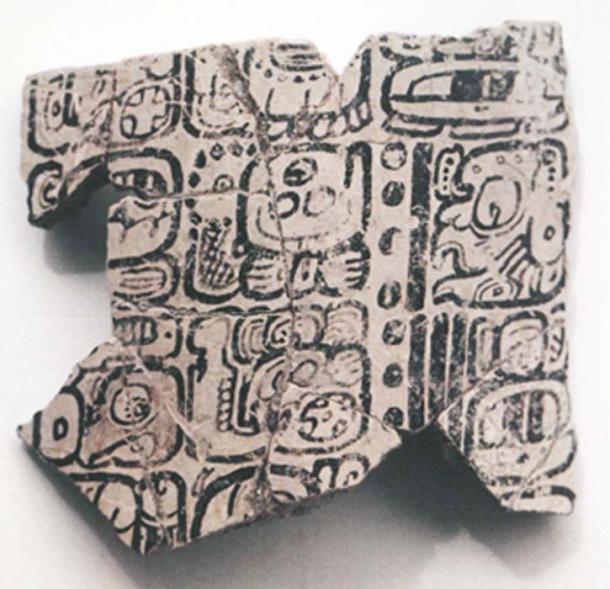 Fragments of the Komkom Vase showing the A.D. 812 Long Count calendar date. Credit: Baylor University