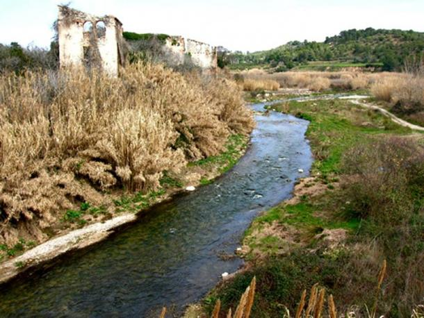 The Francolí river passing by Masó, Tarragona, Spain.