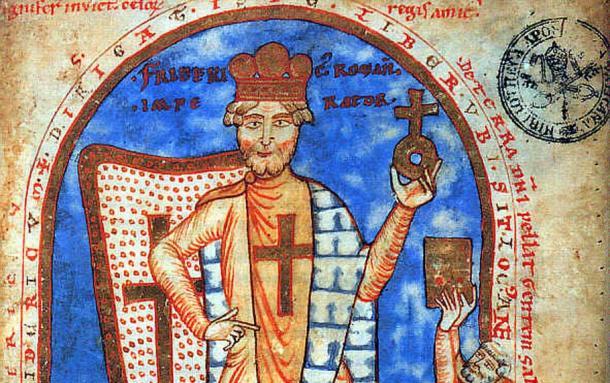 Frederick Barbarossa as a crusader, 1188 (Public Domain)