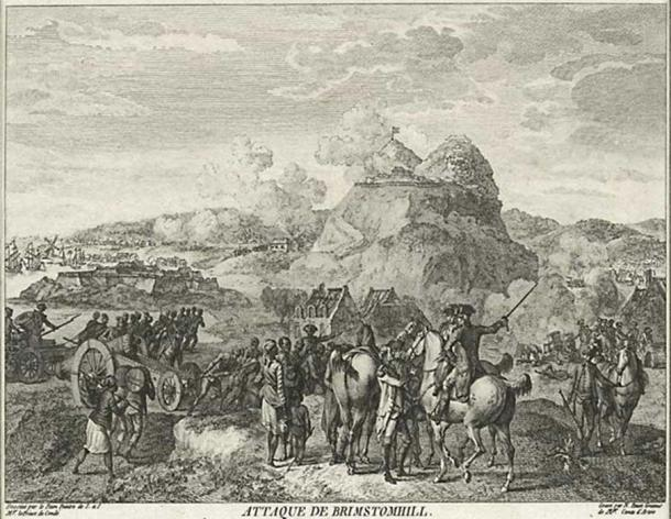 French engraving of Battle of St Kitts, 1782 (Public Domain)
