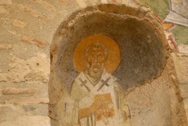 Fresco of Saint Nicholas. Source: BigStockPhoto