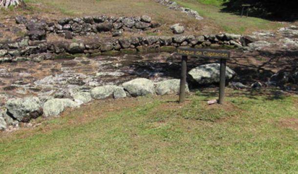 Fresh water capture tank built at Guayabo de Turrialba (Gould, A/ CC BY-NC 2.0)