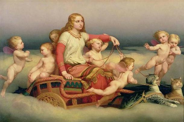 'Freyja Seeking Her Husband' (1852) by Nils Blommér. (Public Domain)