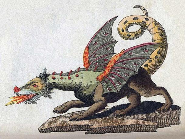 Friedrich Johann Justin Bertuch, the mythical creature dragon, 1806.