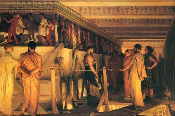 'Phidias Showing the Frieze of the Parthenon to his Friends' (1868) Lawrence Alma-Tadema.
