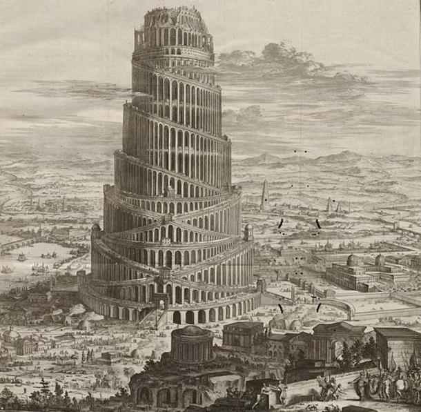 From Athanasius Kircher. Turris Babel... Amsterdam, 1679. (Public Domain)