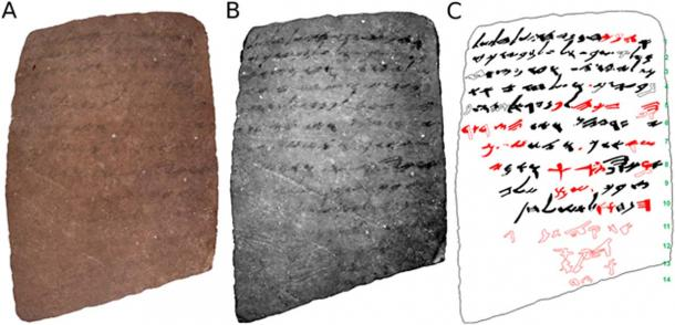 Front of the ostracon.