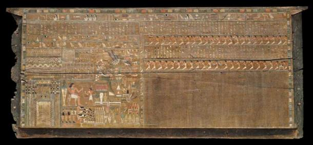 Front side panel of outer Bersha coffin, 2010–1961 BC. Credit: Museum of Fine Arts, Boston