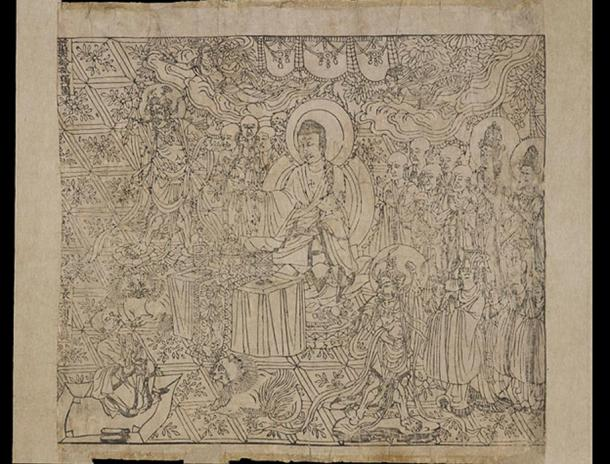 Frontispiece of the Chinese Diamond Sutra.