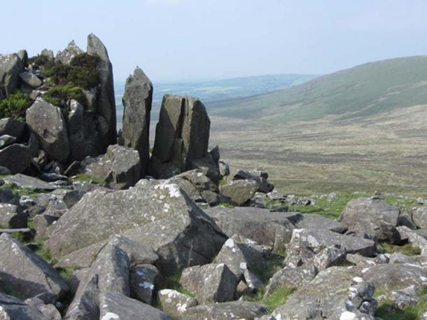 Frost-shattered rocks on Carn Menyn (Meini), Pembrokeshire, Wales