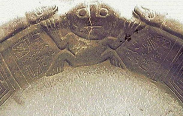 A figure on the Fuente Magna bowl.
