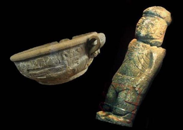 The Fuente Magna bowl and Pokotia monolith. (Author provided)