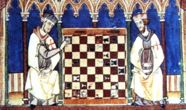 Fulk and John quarreled over a game of chess. (Dendrofil / Public Domain)